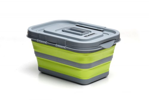 Collapsible Storage Basket with Lid